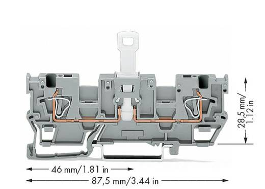 1-Leiter/1-Leiter-Trennbasisklemme WAGO Inhalt: 50 St.