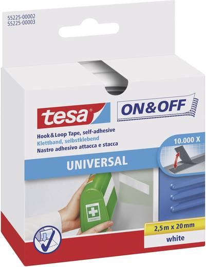 Klettband zum Aufkleben Haft- und Flauschteil (L x B) 2500 mm x 20 mm Weiß TESA On & Off 55225-02-00 1 St.