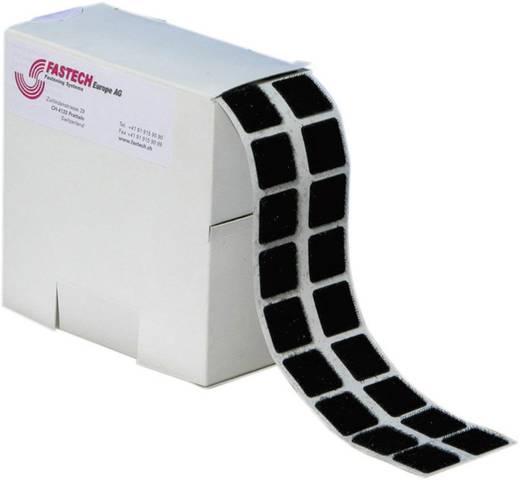 Klettquadrate zum Aufkleben Haft- und Flauschteil (L x B) 20 mm x 20 mm Schwarz Fastech B20-SQ999905 460 Teile