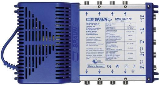 SAT Multischalter Spaun Light SMS 5807 NF Eingänge (Multischalter): 5 (4 SAT/1 terrestrisch) Teilnehmer-Anzahl: 8 StandBy-Funktion