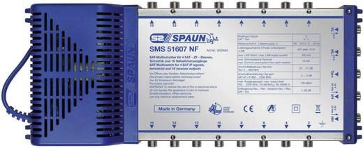 SAT Multischalter Spaun Light SMS 51607 NF Eingänge (Multischalter): 5 (4 SAT/1 terrestrisch) Teilnehmer-Anzahl: 16 Stan