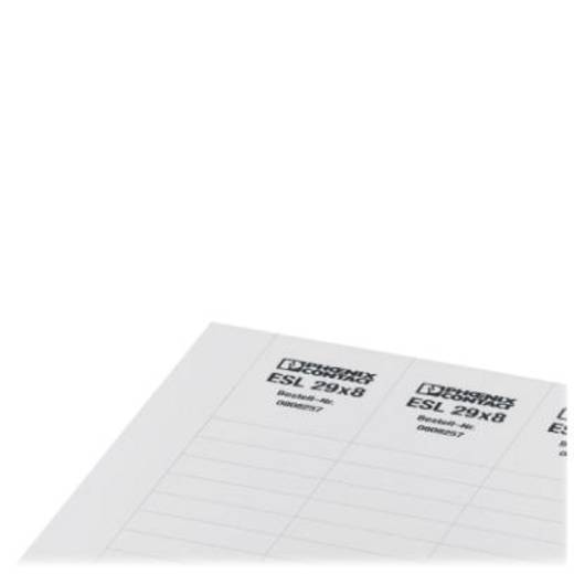 Leitermarkierer Montage-Art: aufschieben Beschriftungsfläche: 44 x 7 mm Passend für Serie Schilderrahmen Weiß Phoenix Co