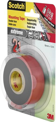 Montageband Scotch® Grau (L x B) 1.5 m x 19 mm 3M 40021915 1 Rolle(n)