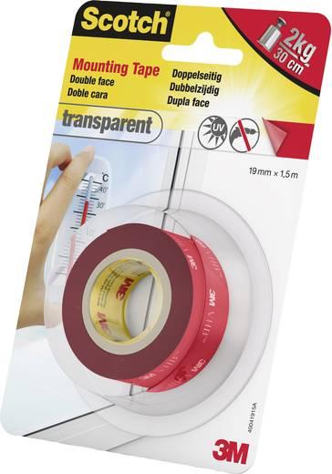 Montageband 3M Scotch® Transparent (L x B) 1.5 m x 19 mm Inhalt: 1 Rolle(n)
