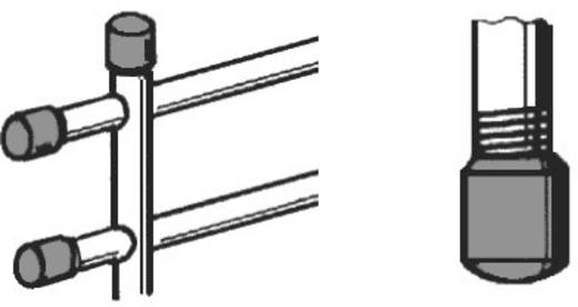 PB Fastener 009 0220 220 03 Schutzkappe Klemm-Ø (max.) 22 mm Polyethylen Schwarz 1 St.