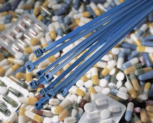 Kabelbinder 100 mm Blau Detektierbar HellermannTyton 111-01225 MCT18R PA66MP BU 1 St.