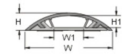 Starre Kabelbrücke, selbstklebend (L x B x H) 100 x 2.88 x 0.74 cm Grau KSS Inhalt: 1 St.