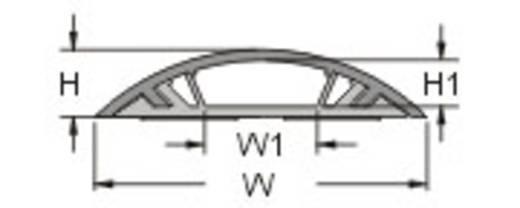Starre Kabelbrücke, selbstklebend (L x B x H) 100 x 3.85 x 1.15 cm Grau KSS Inhalt: 1 St.