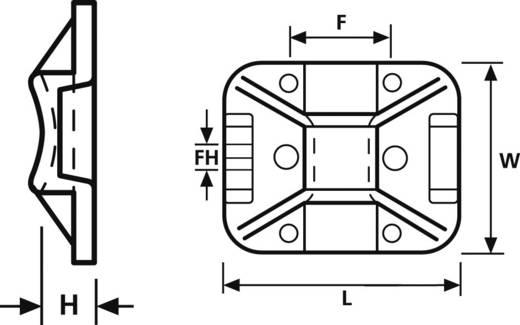 HellermannTyton 151-11810 TY8G1S-W-C1 Befestigungssockel selbstklebend, schraubbar halogenfrei, UV-stabilisiert, witter
