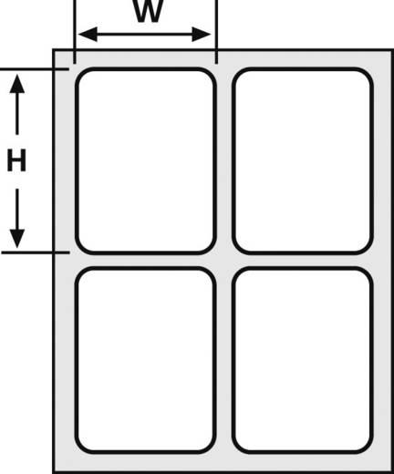 Kabel-Etikett Helafix 35 x 12 mm Farbe Beschriftungsfeld: Gelb HellermannTyton 526-01714 HFX12-35P-SP-YEWH Anzahl Etiket