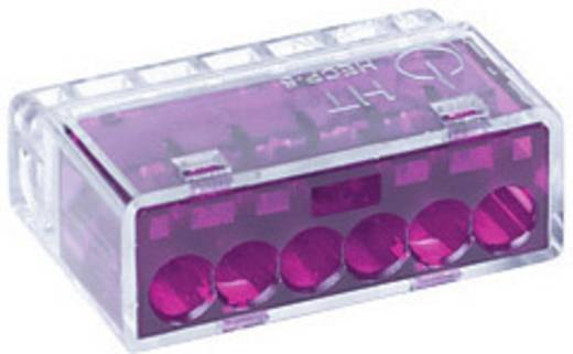 Verbindungsklemme starr: 0.5-2.5 mm² Polzahl: 6 HellermannTyton HECP-6 1 St. Violett
