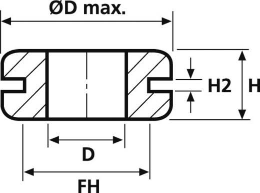 HellermannTyton HV1101-PVC-BK-D1 Kabeldurchführung Klemm-Ø (max.) 12 mm PVC Schwarz 1 St.