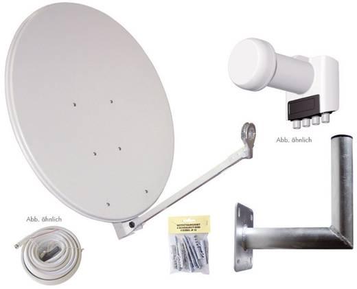 SAT-Anlage ohne Receiver 4 AllVision SAH-S 4000/80-QUAD Set 80 cm