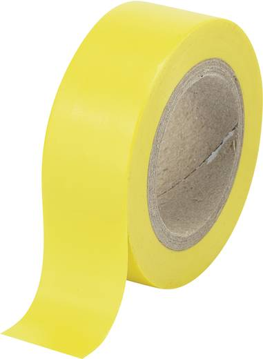Isolierband Gelb (L x B) 25 m x 19 mm Conrad Components 548227 1 Rolle(n)