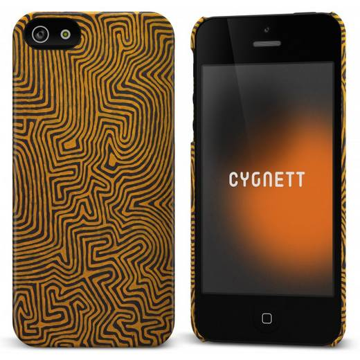 iPhone Backcover Cygnett Hard Case Icon Echidna Dreaming Passend für: Apple iPhone 5, Apple iPhone 5S, Apple iPhone SE, Schwarz, Orange