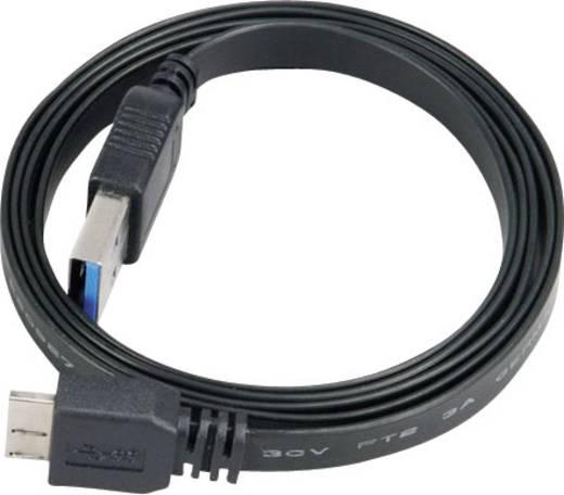 USB 3.0 Anschlusskabel [1x USB 3.0 Stecker A - 1x USB 3.0 Stecker Micro B] 2 m Schwarz hochflexibel, vergoldete Steckkontakte, UL-zertifiziert Akasa