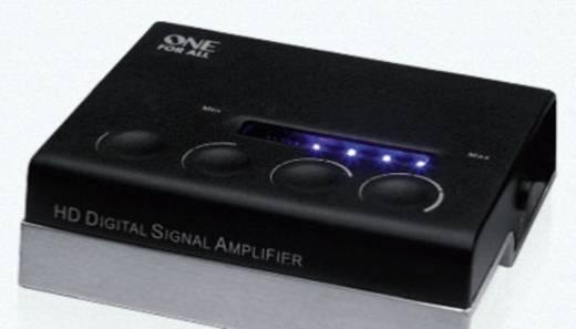 One For All SV 9395 Aktive DVB-T/T2 Flachantenne Innenbereich Verstärkung=51 dB Schwarz, Silber (gebürstet)