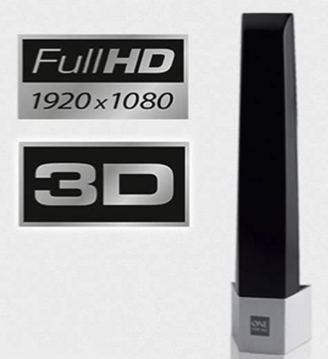 Aktive DVB-T/T2-Stabantenne One For All SV 9345 Innenbereich Verstärkung=43 dB Schwarz, Silber (gebürstet)