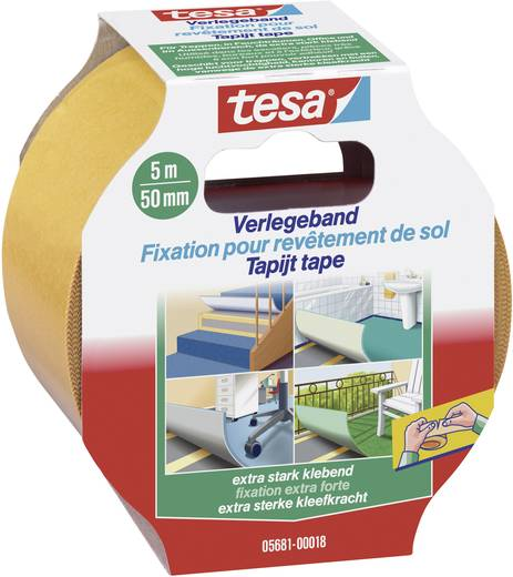 Verlegeband Orange (L x B) 5 m x 50 mm tesa 05681-18 1 Rolle(n)