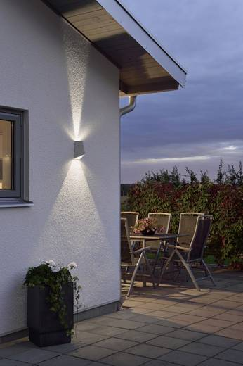 Led au enwandleuchte 8 w warm wei konstsmide imola up for Luminaire moderne exterieur