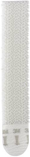 Klettband zum Aufkleben Haft- und Flauschteil (L x B) 93 mm x 18 mm Weiß 3M 17206 4 Paar