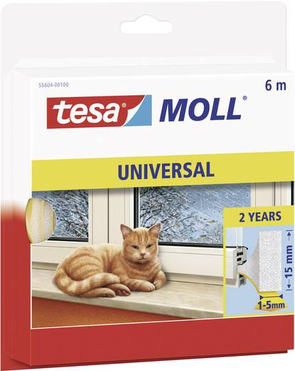 Dichtband tesa tesamoll® Weiß (L x B) 6 m x 15 mm Kautschuk Inhalt: 1 Rolle(n)
