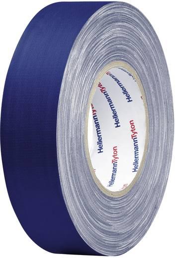 Gewebeklebeband HellermannTyton HelaTape Tex Blau (L x B) 50 m x 19 mm Kautschuk Inhalt: 1 Rolle(n)