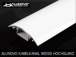 Image of Alunovo HW90-025 Kabelkanal (L x B x H) 250 x 80 x 20 mm 1 St. Weiß (glänzend)
