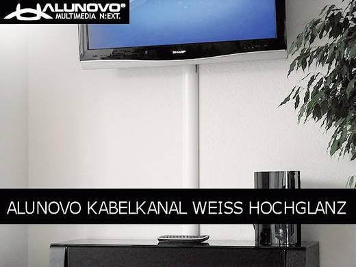 Kabelkanal (L x B x H) 1000 x 80 x 20 mm Alunovo HW90-100 1 St. Weiß (glänzend)