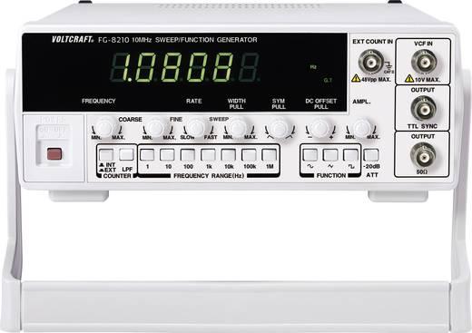VOLTCRAFT® 8210 1-Kanal-Funktionsgenerator 0.1 Hz - 10 MHz Signal-Ausgangsform(en) Sinus, Rechteck, Dreieck, Rampe, Puls