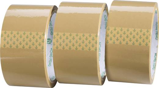 Verpackungsklebeband Conrad Components Braun (L x B) 50 m x 48 mm Acryl Inhalt: 3 Rolle(n)