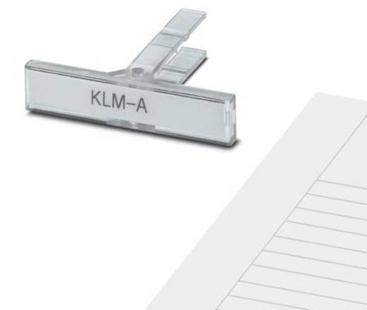 Gerätemarkierung Montage-Art: aufschieben Beschriftungsfläche: 44 x 7 mm Passend für Serie Schilderrahmen Weiß Phoenix C