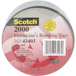 PVC tape 3M Scotch 2000 7000076790, (d x š) 46 m x 50 mm, kaučuk, sivá, 1 ks