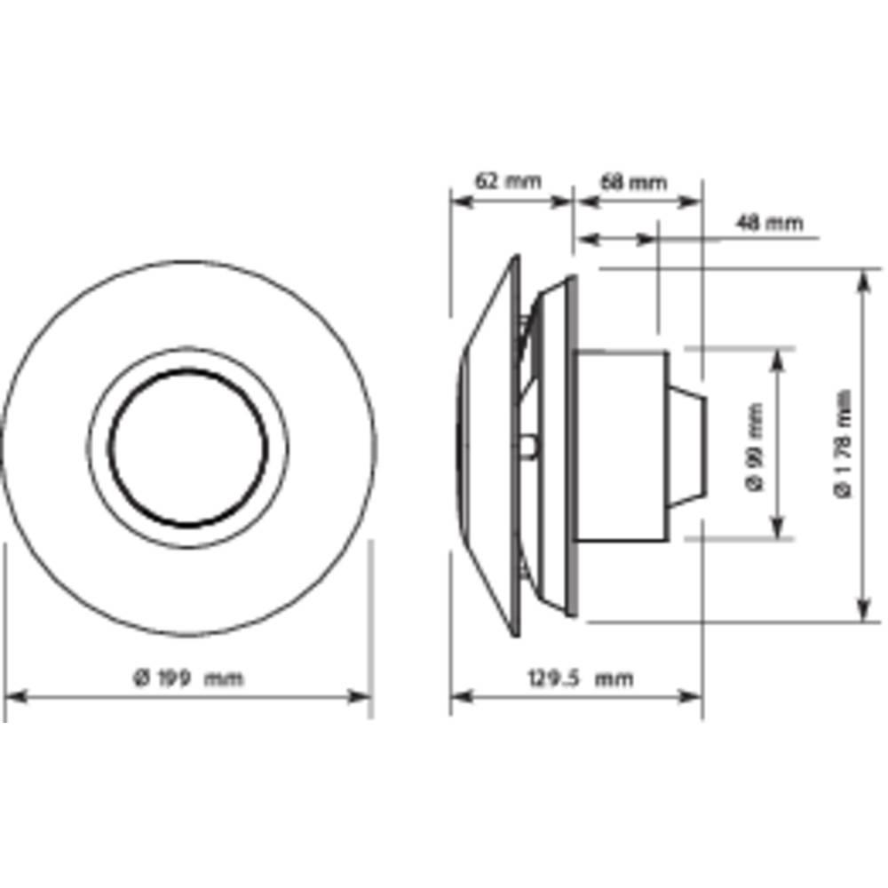 Sygonix 33925W Wand- und Deckenlüfter 230 V 75.6 m³/h 10 cm im ...