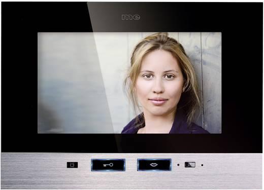 m-e modern-electronics VDV 507 SS Video-Türsprechanlage Kabelgebunden Inneneinheit 1 Familienhaus Schwarz, Edelstahl