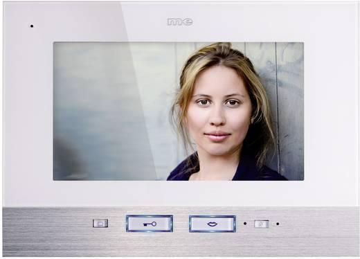 m-e modern-electronics VDV 507 WW Video-Türsprechanlage Kabelgebunden Inneneinheit 1 Familienhaus Weiß, Edelstahl