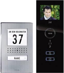 Kabelový domovní video telefon m-e modern-electronics, nerezová ocel, černá, kompletní sada