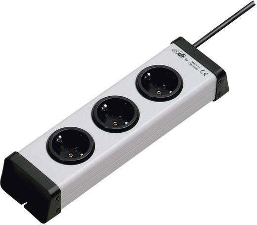 Steckdosenleiste ohne Schalter 3fach Grau Schutzkontakt Ehmann 0200x00032301