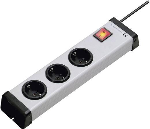 Ehmann 0201x00032301 Steckdosenleiste mit Schalter 3fach Grau Schutzkontakt