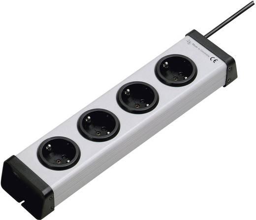 Steckdosenleiste ohne Schalter 4fach Grau Schutzkontakt Ehmann 0200x00042301