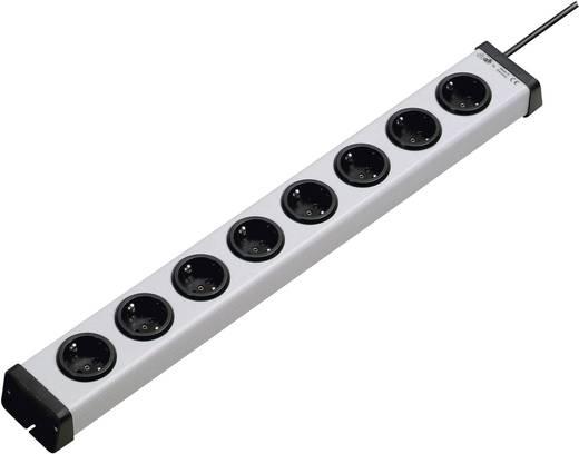 Steckdosenleiste ohne Schalter 8fach Grau Schutzkontakt Ehmann 0200x00082301