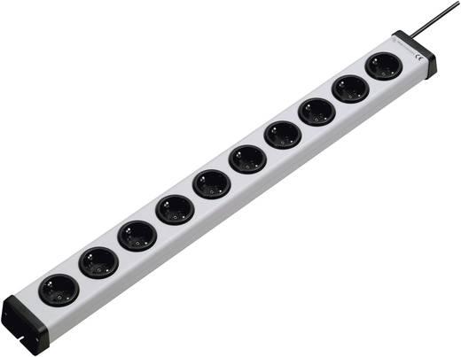 Steckdosenleiste ohne Schalter 10fach Grau Schutzkontakt Ehmann 0200x00102301