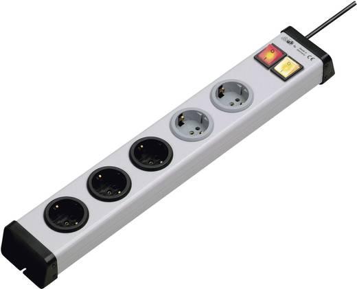 Ehmann 0203x00052301 Steckdosenleiste mit Schalter 5fach Grau Schutzkontakt