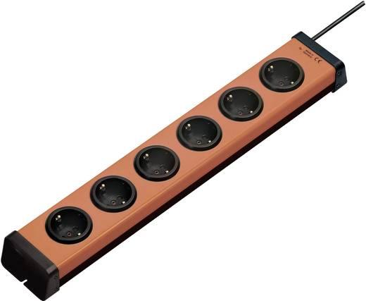 Steckdosenleiste ohne Schalter 6fach Orange, Schwarz Schutzkontakt Ehmann 0200x00062g01