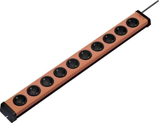 Ehmann 0200x00102g01 Steckdosenleiste ohne Schalter 10fach Orange, Schwarz Schutzkontakt