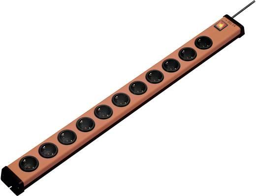Steckdosenleiste mit Schalter 11fach Orange, Schwarz Schutzkontakt Ehmann 0201x00112g01