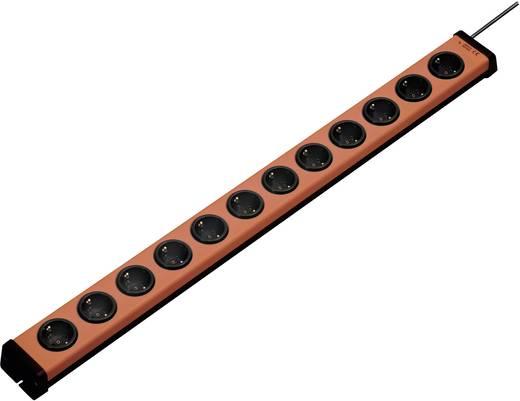 Steckdosenleiste ohne Schalter 12fach Orange, Schwarz Schutzkontakt Ehmann 0200x00122g01