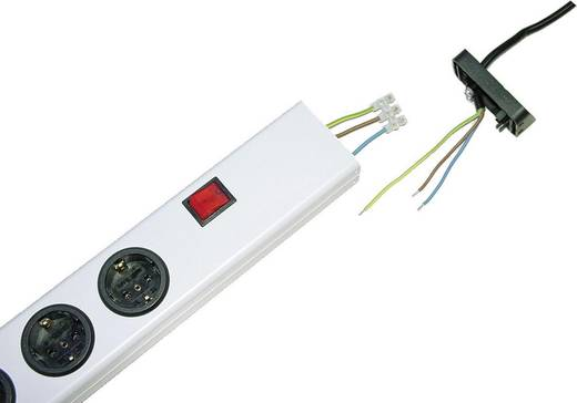 Ehmann 0206x00052300 Steckdosenleiste mit Schalter 5fach Weiß ohne Stecker