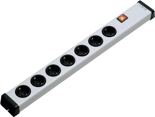 Steckdosenleiste mit Schalter 7fach Weiß ohne Stecker Ehmann 0201x00072300