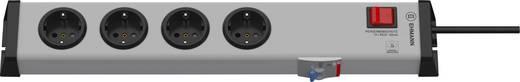 Steckdosenleiste mit Schalter 4fach Grau Schutzkontakt Ehmann 0221x00042301